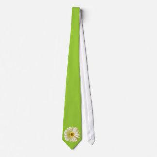 White Gerbera Daisy Flower Tie
