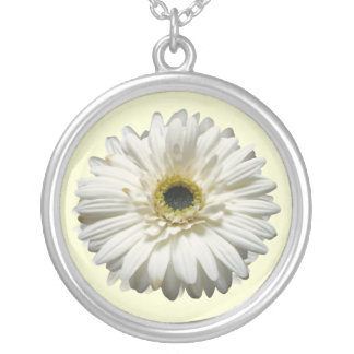 White Gerbera Daisy Necklace