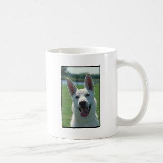 White German Shepherd Dog Basic White Mug