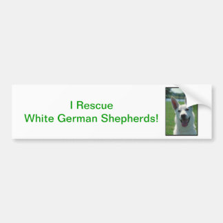 White German Shepherd Dog Bumper Sticker