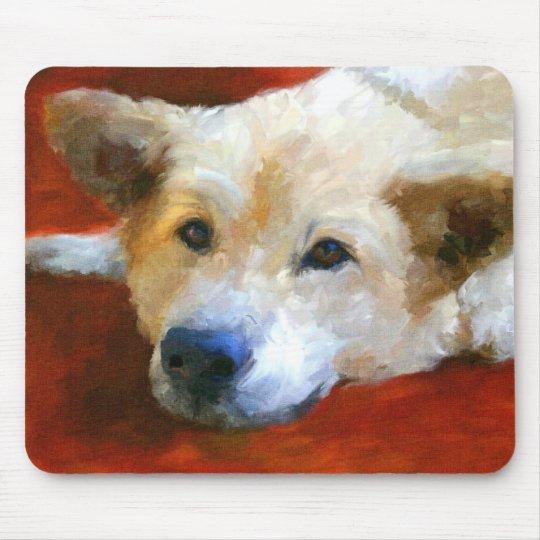 White German Shepherd Dog Mousepad