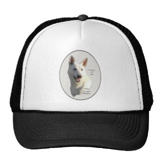 White German Shepherd Gifts Mesh Hats
