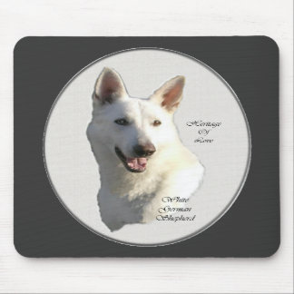 White German Shepherd Gifts Mouse Pad