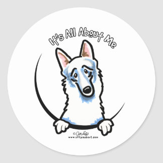 White German Shepherd IAAM Classic Round Sticker