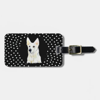 WHITE GERMAN SHEPHERD LUGGAGE TAG