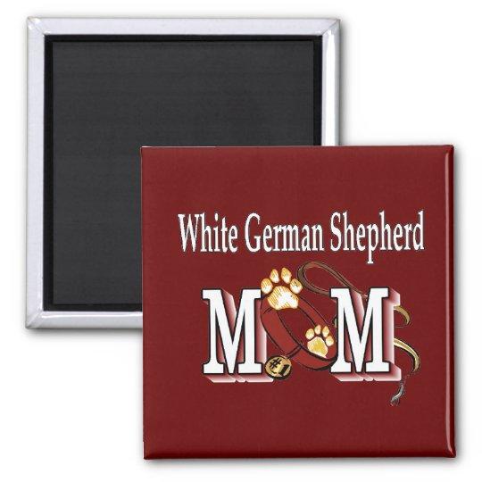 White German Shepherd Mum Gifts Magnet