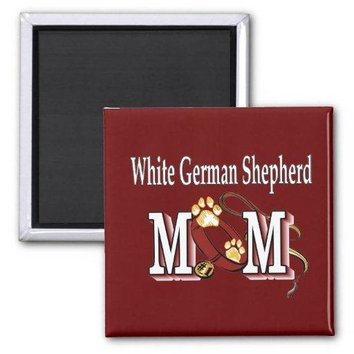 White German Shepherd Mum Gifts Square Magnet