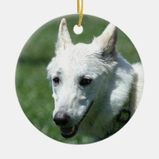 White German Shepherd ornament