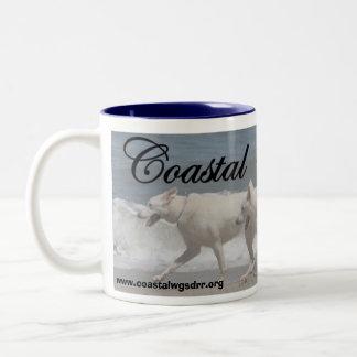 White German Shepherds Two-Tone Coffee Mug