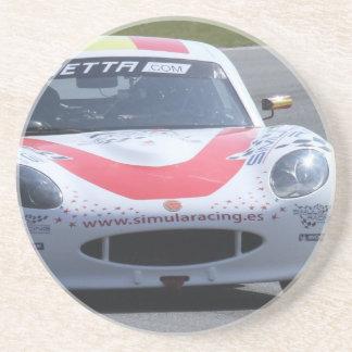 White Ginetta racing car Coaster