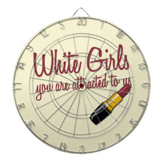 White Girls Dartboard