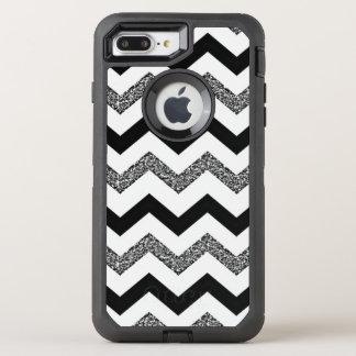 White Glitter Chevron iPhone 8/7 Plus Otterbox