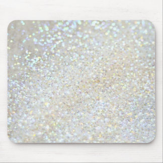 white glitter faux effect mouse mat