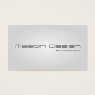 White Glow Modern Minimalistic Business Card