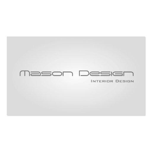 White Glow Modern Minimalistic Business Card