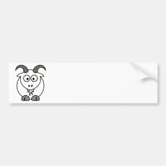 White Goat selection Bumper Sticker