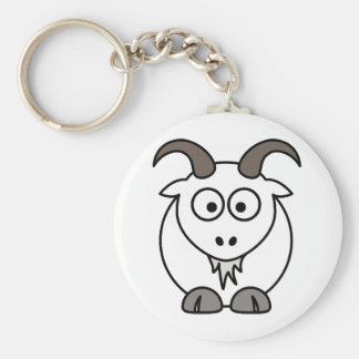 White Goat selection Key Ring