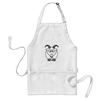White Goat selection Standard Apron