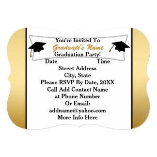 White & Gold 2014 Graduation Party Invitations