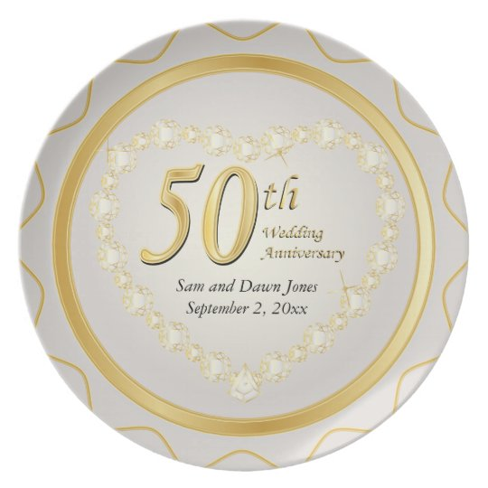 White & Gold 50th Golden Wedding Anniversary Party