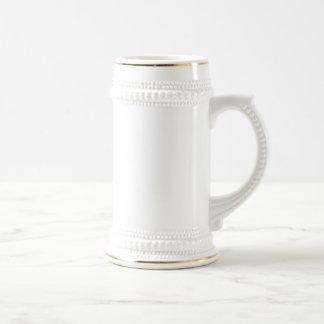 White/Gold Beer Stein Coffee Mugs