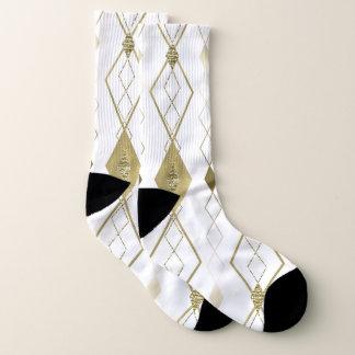 White & Gold Diamond Glamour Modern Classy Argyle 1
