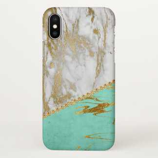 White Gold Glitter and Sparkle Marble iPhone X Case