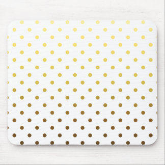 White Gold Polka Dot Mouse Mat