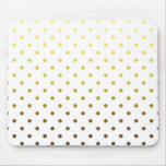 White Gold Polka Dot Mouse Pad