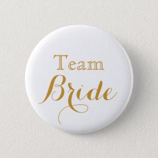 white Gold Wedding Team Bride 6 Cm Round Badge