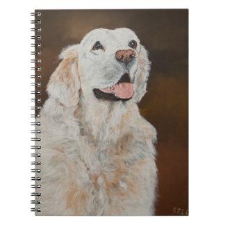 """White"" Golden Retriever Notebook"