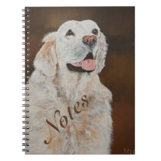 """White"" Golden Retriever~Notes Spiral Note Book"