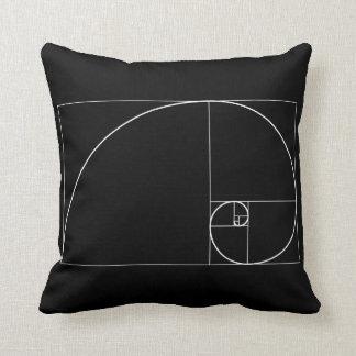White Golden Spiral Cushion