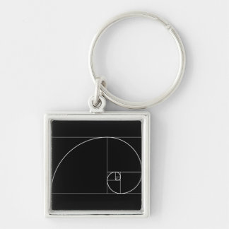 White Golden Spiral Key Ring