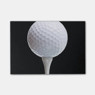 White Golf Ball Sports Template Post-it Notes