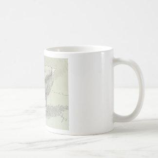 White Goose drawing Coffee Mug