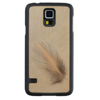 White Goose Feather Still Life Carved Maple Galaxy S5 Case