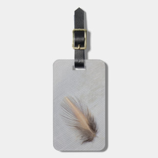 White Goose Feather Still Life Luggage Tag