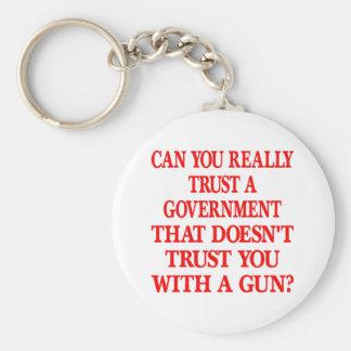White Gov Trust You With Gun Key Ring