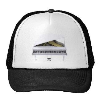 White Grand Piano: 3D Model: Cap