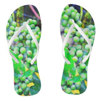 White Grape Flip Flops