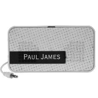 White Gray and Black Polka Dots Travelling Speakers