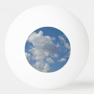 White/Gray Clouds and Blue Sky Ping Pong Ball