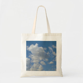 White/Gray Clouds and Blue Sky Tote Bag