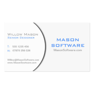 White & Gray Corporate Technology Business Card