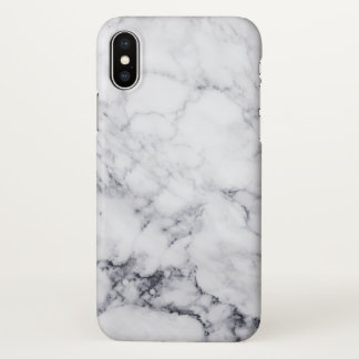 White & Gray faux Marble iPhone X Case