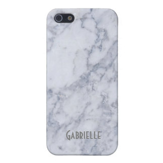 White & Gray Marble Stone Pattern iPhone 5/5S Case