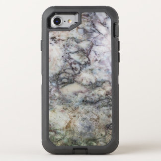 White Gray Marble Swirl OtterBox Defender iPhone 8/7 Case