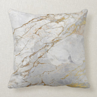 White Gray Silver Pearly Gold VIP Brush Marble Cushion