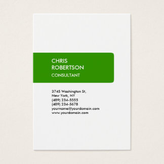 White Green Attractive Chubby Business Card